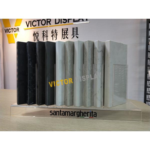 VQ138 Acrylic Display Stand For Quartz Stone