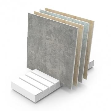 wood tile display