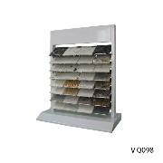 VQ098 Metal Custom Quartz Stone Desktop Display Rack