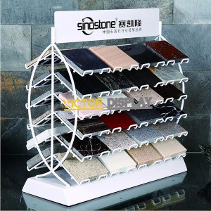 Double Side Stone Sample Display Rack