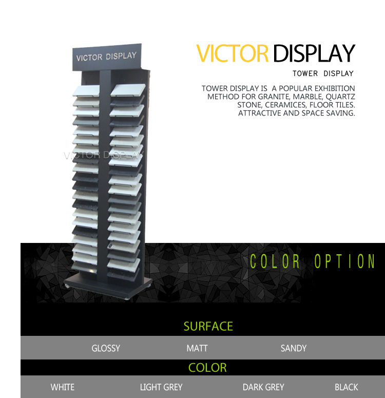 VQ183 Solid surface sample display tower