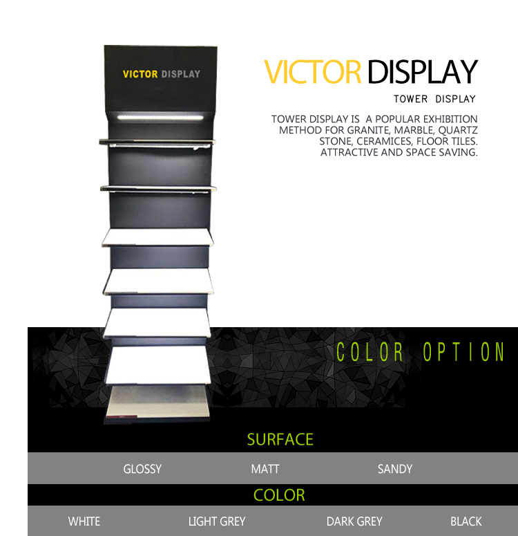 VQ085 Tower Display With Light for Quartz Stone