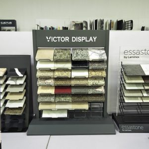 Metal Custom Quartz Stone Desktop Display Rack