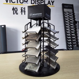 Quartz stone display stand for stone samples