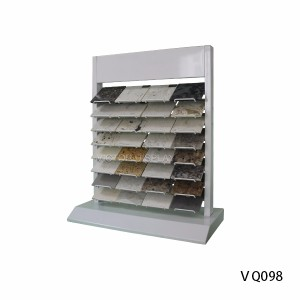 Metal Custom Quartz Stone Desktop Display Rack