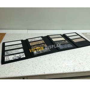 VS106 Leather Quartz Stone Display Book