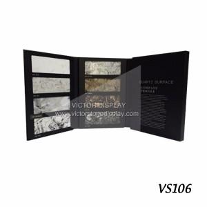 Leather Quartz Stone Display Book