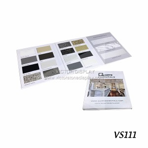 Quartz Stone Sample Display Book
