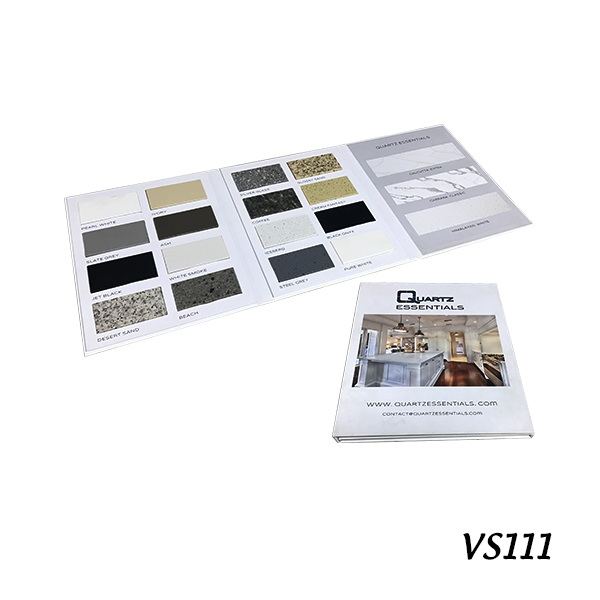 VS111 Quartz Stone Sample Display Book
